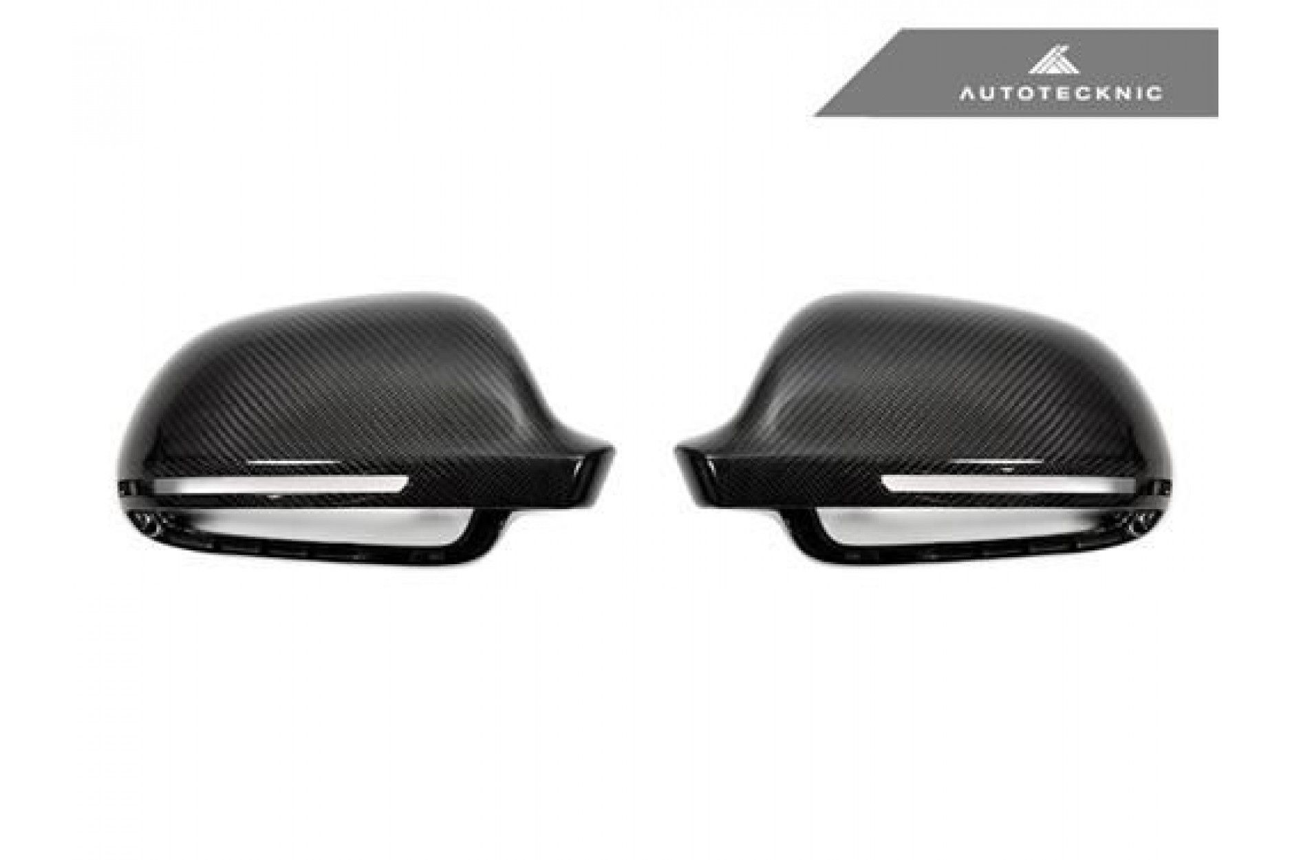 AutoTecknic Replacement Carbon Fiber Mirror Covers - Audi 8P A3/S3 | B8 A4/S4 | 8T A5/S5 without Side Assist
