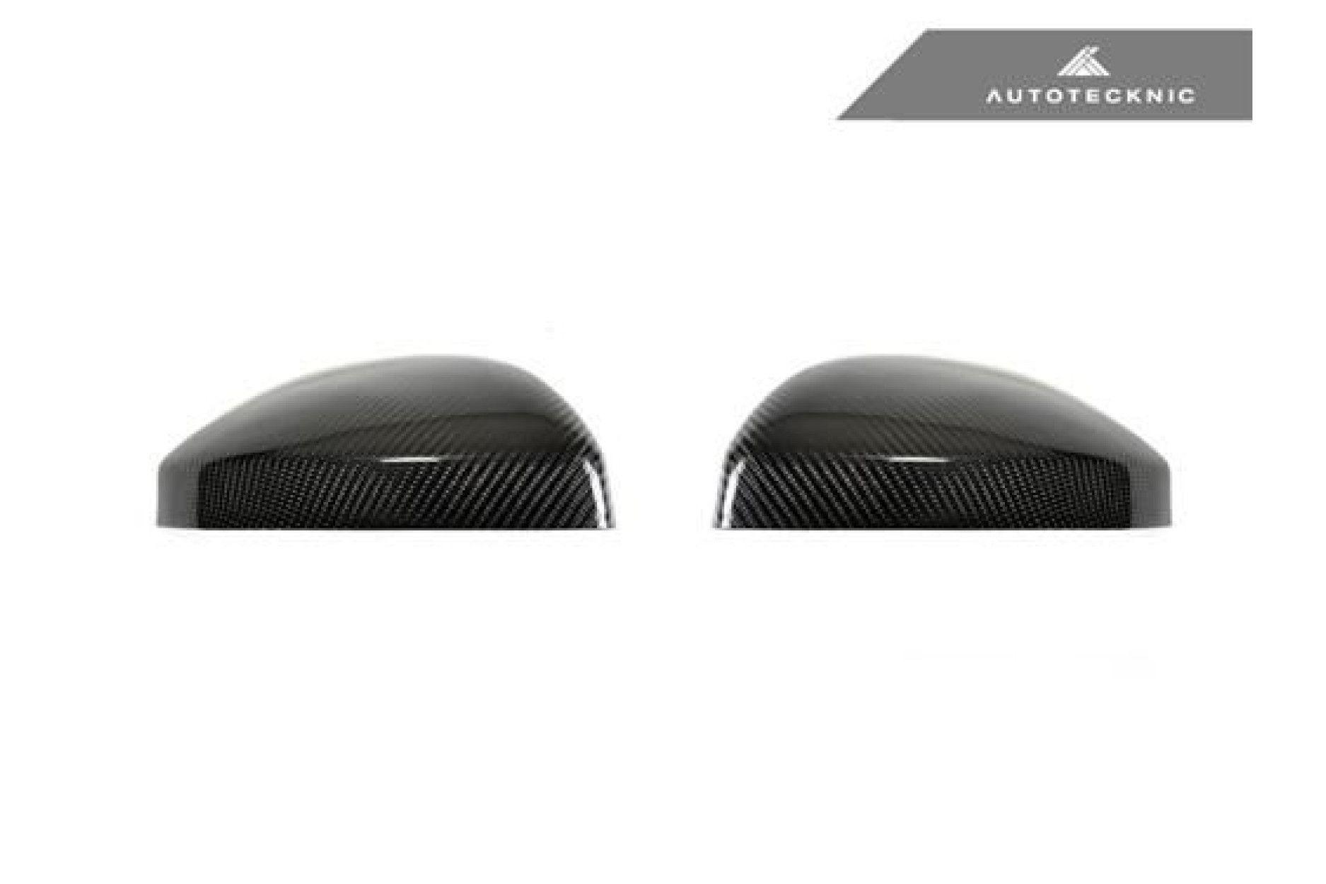 AutoTecknic Replacement Carbon Fiber Mirror Covers - Audi 8S MK3 TT/TTS 15-17 | 4S MK2 R8 16-18 without Side Assist