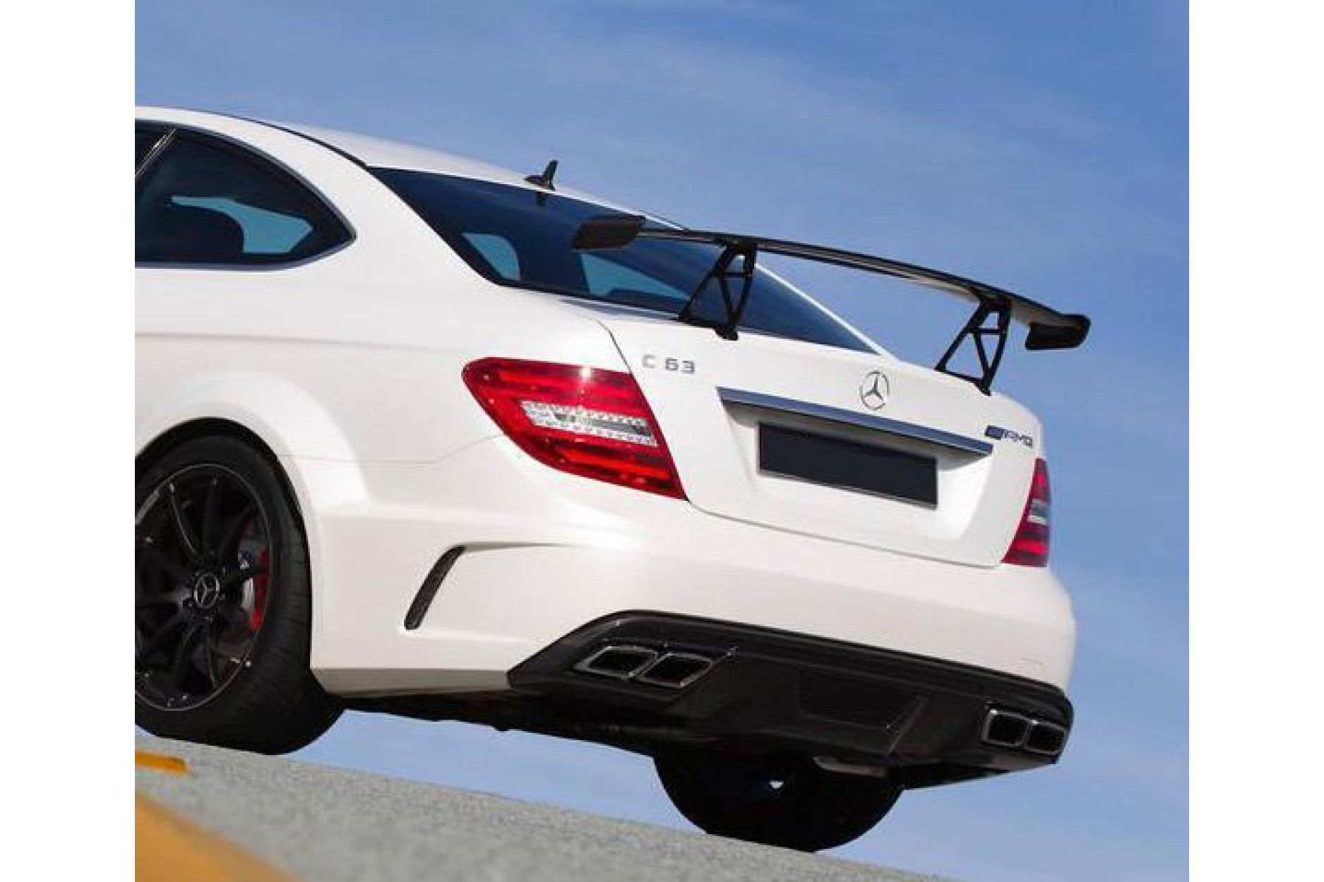 Boca carbon rear wing for Mercedes Benz C63 AMG