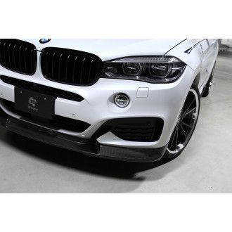 3DDesign carbon front lip for BMW F16 X6 with M-Tech