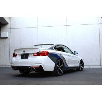 3Ddesign carbon diffuser for BMW 4 Series F32 with M-Tech with duplex AGA (435i)