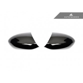 Autotecknic Glazing Black replacement mirror caps for BMW 1er|3er E90|E92|E93 M3|1M