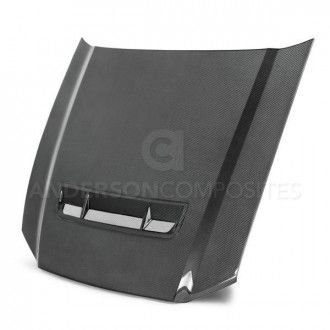 Anderson Composites Type-SS carbon fiber hood for 2010-2014 Ford Mustang GT500 and 2013-2014 Mustang GT/V6