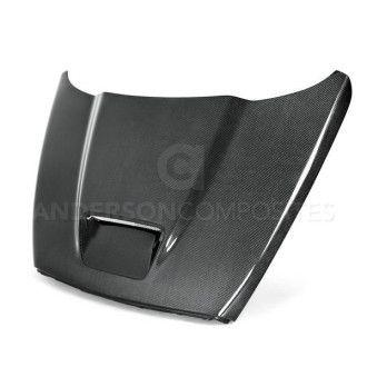 Anderson Composites Type-OE carbon fiber hood for 2002-2008 Dodge Ram SRT-10
