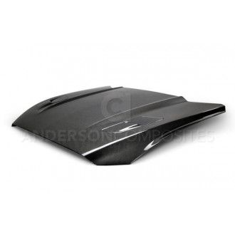 Anderson Composites Type-OE (GT Style with hood vents) carbon fiber hood for 2015-2017 Ford Mustang