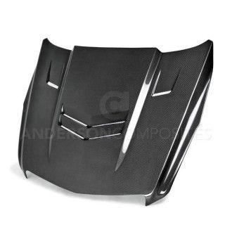 Anderson Composites Carbon Fiber Hood for 2013 - 2015 Cadillac ATS