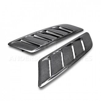 Anderson Composites Type-AB carbon fiber hood vents for 2015-2017 Ford Mustang GT