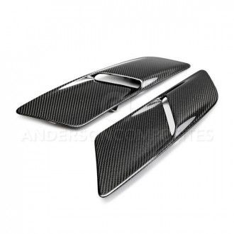 Anderson Composites Type-OE carbon fiber hood vents for 2015-2017 Ford Mustang GT