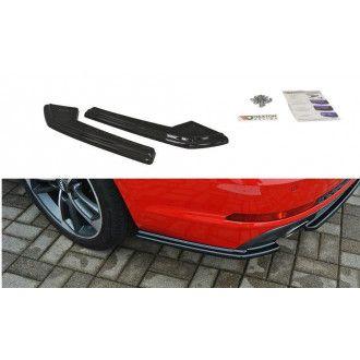 Maxton Design ABS Diffusor Seiten Eerwiterungen Flaps für Audi A4 B9 S4|RS4 S-Line schwarz hochglanz