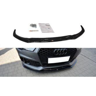 Maxton Design ABS Frontlippe V.1 für Audi A7 C7 S7|RS7 Facelift schwarz hochglanz