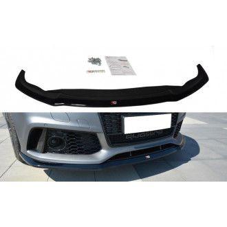 Maxton Design ABS Frontlippe V.2 für Audi A7 C7 S7 RS7 Facelift schwarz matt