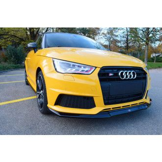 Maxton Design ABS Frontlippe V.1 für Audi A1 8X S1 Carbon Look
