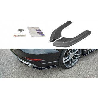Maxton Design ABS Diffusor Seiten Eerwiterungen Flaps für Audi A3 8V S3 RS3 Facelift Limo Carbon Look