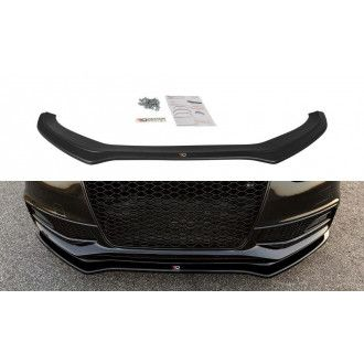 Maxton Design ABS Frontlippe V.2 für Audi A4 B8 S4 RS4 Facelift schwarz matt