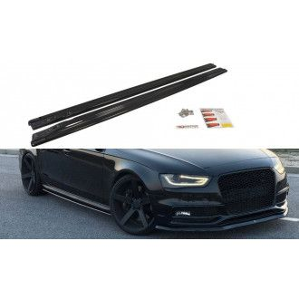 Maxton Design ABS Seitenschweller für Audi A4 B8 S4|RS4 Facelift schwarz matt
