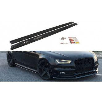 Maxton Design ABS Seitenschweller für Audi A4 B8 S4 RS4 Facelift schwarz matt
