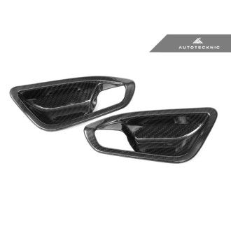 Autotecknic Dry Carbon Fiber Interior Door Handle Covers - F20 1-Series | F22 2-Series | F87 M2
