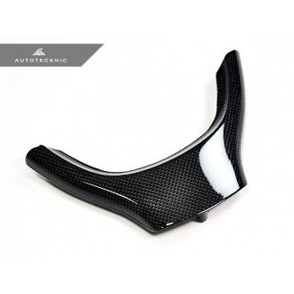 AutoTecknic Carbon Fiber Steering Wheel Trim - F10 5 Series/ F01 7 Series/ F07 5 Series GT Standard Wheel (Non-M/ M-Sport)