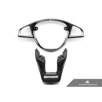 AutoTecknic Carbon Fiber Steering Wheel Trim - Mercedes Benz W205 (Various Vehicles)