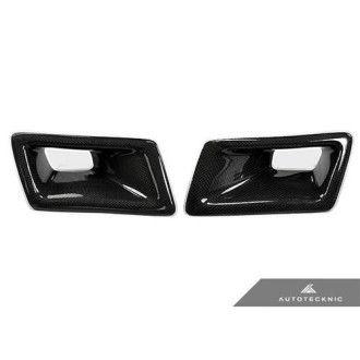 AutoTecknic Carbon Fiber Dual Air Duct - Nissan 350Z