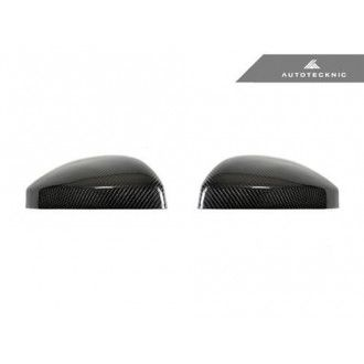 AutoTecknic Replacement Carbon Fiber Mirror Covers - Audi 8S MK3 TT/TTS 15-17 | 4S MK2 R8 16-18 without Side Assist