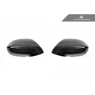 AutoTecknic Replacement Carbon Fiber Mirror Covers - Audi A7 S7 RS7 2012-Up without Side Assist