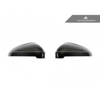 AutoTecknic Replacement Carbon Fiber Mirror Covers - Audi B9 A4/S4 | F5 A5/S5 (Without Side Assist) 2016-Up