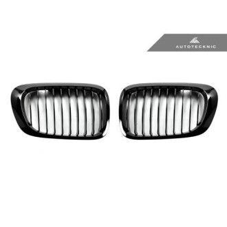AutoTecknic Glazing Black Front Grille - E46 Coupe Pre-Facelift