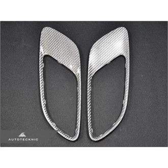 AutoTecknic Silver Fiber Hood Vent - E9X M3