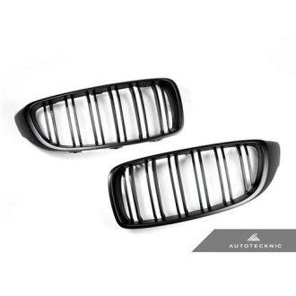 AutoTecknic Stealth Black Front Grille - Dual Slats - F32/F33/F36 | F80/F82/F83 M3/M4