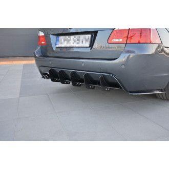 Maxton Design ABS Diffusor Heckschürzen Ansatz für BMW 5er E60|E61 M-Paket Kombi schwarz matt