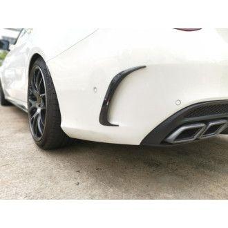 Boca Carbon rear inserts for Mercedes Benz C-Klasse W205 C200|C250|C300|C43 AMG|C63 AMG|C63S AMG sedan nur AMG-Paket