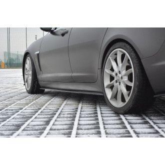 Maxton Design ABS Seitenschweller für Jaguar XF schwarz hochglanz
