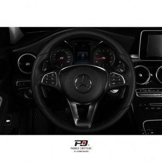 Leyo Aluminium Schaltwippen für Mercedes schwarz