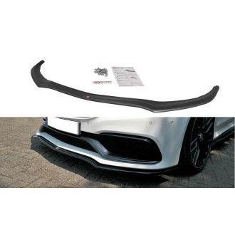 Maxton Design ABS Frontlippe V.1 für Mercedes Benz C-Klasse W205 AMG AMG Paket Coupe schwarz matt