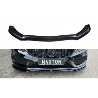 Maxton Design ABS Frontlippe V.1 für Mercedes Benz C-Klasse W205 AMG AMG Paket schwarz hochglanz