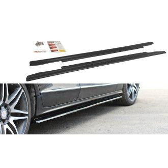 Maxton Design ABS Seitenschweller für Mercedes Benz CLS-Klasse W218 AMG schwarz matt
