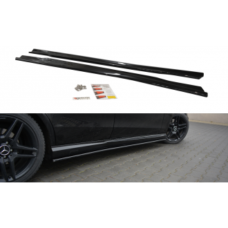 Maxton Design ABS Seitenschweller für Mercedes Benz E-Klasse W212 AMG AMG Paket Carbon Look