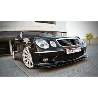 Maxton Design ABS Frontlippe für Mercedes Benz E-Klasse W211 AMG AMG Paket Vorfacelift schwarz matt