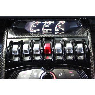 VOS carbon mid console for Lamborghini Huracan - oben