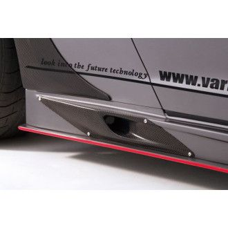 Varis carbon side skirts air intakes for Nissan R35 GT-R