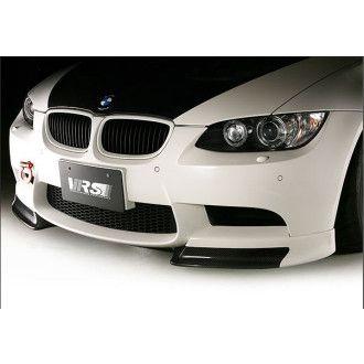 Varis fiberglass front lip with carbon flaps for BMW E92 M3