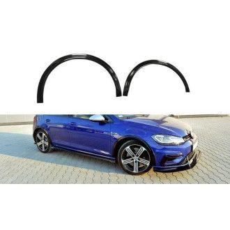 Maxton Design ABS Kotflügel Verbreiterung für Volkswagen Golf Mk7 R Facelift schwarz hochglanz