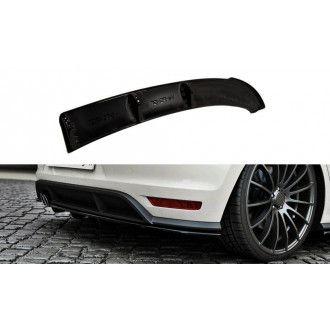 Maxton Design ABS Diffusor für Volkswagen Polo 6R 6C GTI R Facelift schwarz hochglanz