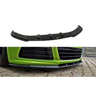 Maxton Design ABS Frontlippe für Volkswagen Scirocco MK3 R R-Line schwarz hochglanz
