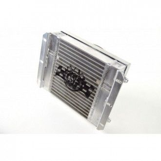 CSF 13.8L x 10H Dual Fluid BAR&PLATE HD OIL COOLER w/ 9' SPAL FAN (1/3 and 2/3 partition)