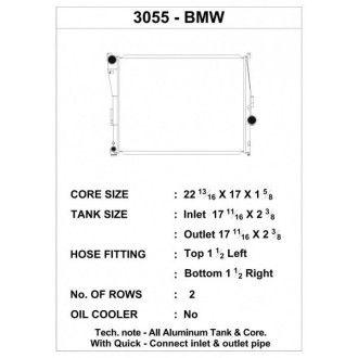 CSF Wärmetauscher Wasserkühler für BMW E46 320i 323 325 328 330 E85 Z4