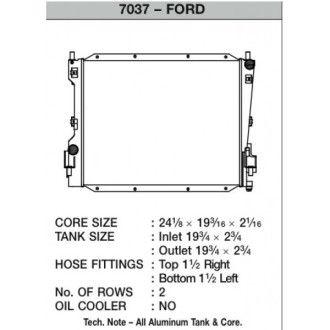 CSF Wärmetauscher Wasserkühler für Ford Mustang V6 und V8 (Automatik und Handschalter) 2005-2013