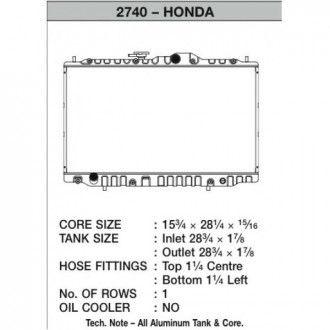 CSF Wärmetauscher Wasserkühler für Hona Accord V6 1998-2002