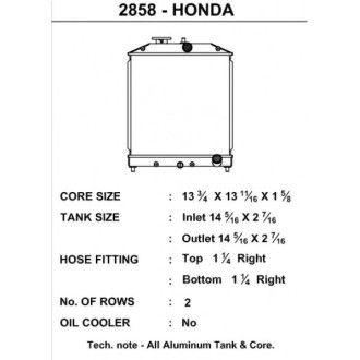 CSF Wärmetauscher Wasserkühler für Hona Civic VTEC und Del Sol Modelle 1992-2000